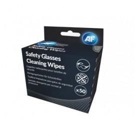 AF Pack 50 toallitas húmedas limpiadoras para gafas de seguridad ASGCS50