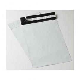 Pack 100 bolsas mensajería plástico opacas con solapa adhesiva 350x450mm BC35045060SIN