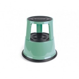 Taburete rodante metálico soporta hasta 150kg. Color verde vintage 8015115